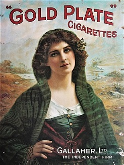 Gallagher's Cigarette Advertisement.