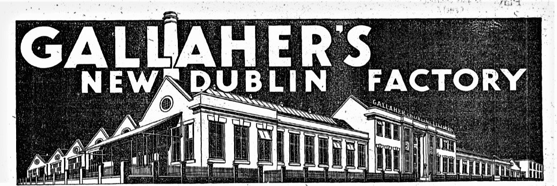 Newspaper Advertisement showcasing the new factory on East Wall Road.