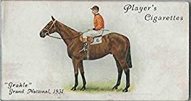 Cigarette Card showing Grackle winner of the 1931 Grand National.