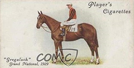 Cigarette Card showing Gregalach winner of the 1929 Grand National.