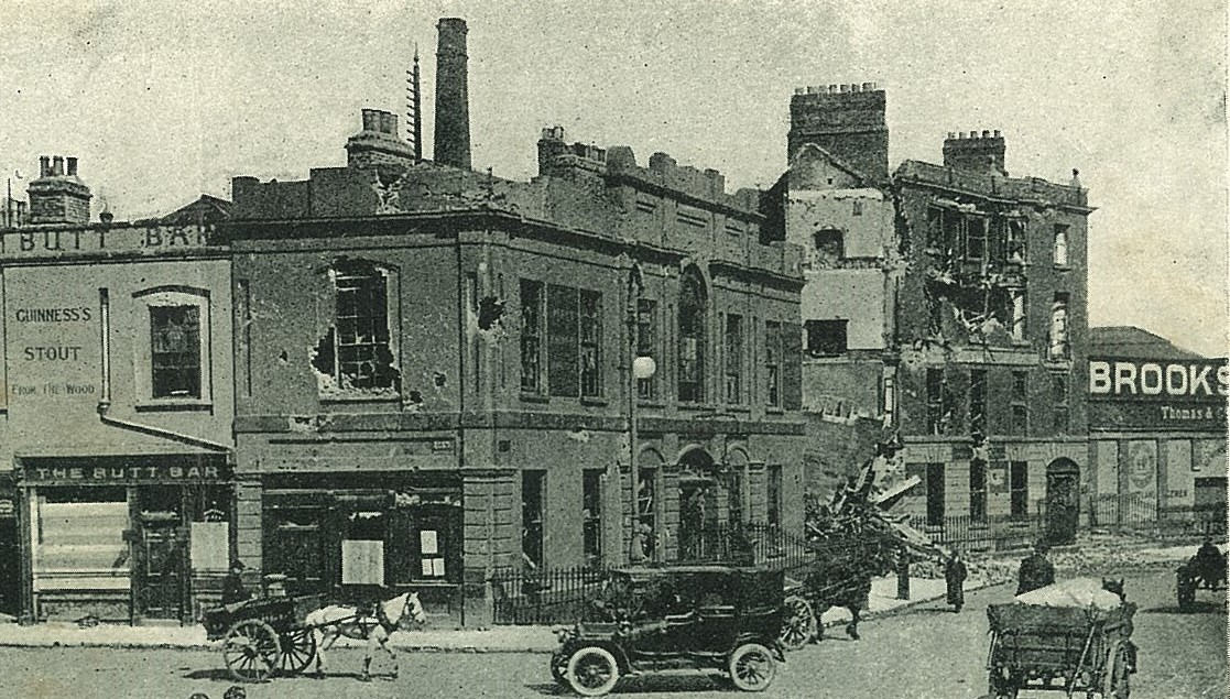 Liberty Hall , showing scars of bombardment