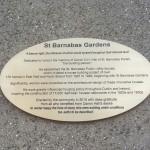 St Barnabas Gardens plaque